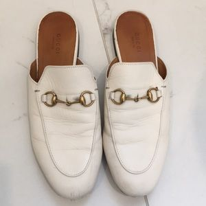 Gucci Princetown Leather Mules Size 39